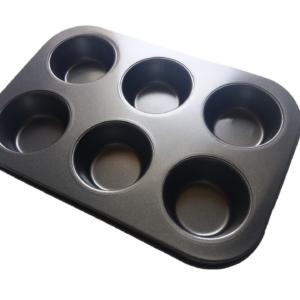 Cupcake/Muffin Tray – Nonstick Coated, 6-Cavity