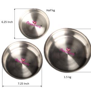 Cake Tin- Round Shape- Set of 3, Small, Medium and Large
