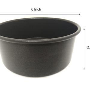 Non Stick Round Cake Mould/Cake Tin- 6 Inch for half kg cake