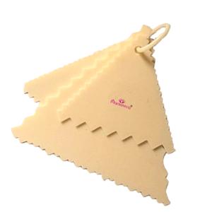 Cake Scrapers – Triangular Zig Zag Designs – Set of 3