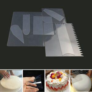 Flexible Cake Scrapers – Set of 9-Pieces