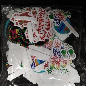 Happy Birthday Cake Tags – 120 pcs, Paper