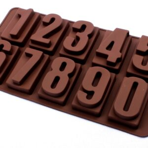 Silicone Chocolate Number Mould – 0 to 9 Numbers