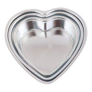 Cake Tin- Heart Shape- Set of 3, Small, Medium and Large