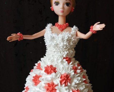 barbie doll cake1