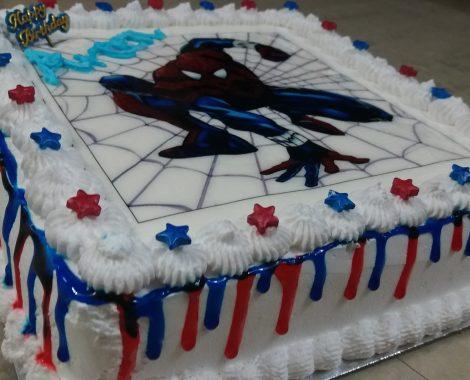 photo print cake spiderman4